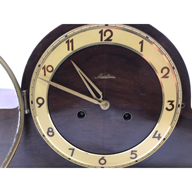 Traditional Mauthe Traditional Mantel Clock For Sale - Image 3 of 7