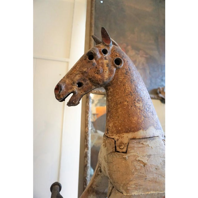 French Country 19th Century Wooden Horse For Sale - Image 3 of 11