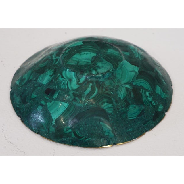 1940s Small Malachite Bowl For Sale - Image 5 of 6