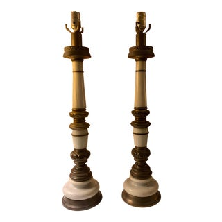 1940s Vintage Neoclassical Table Lamps-A Pair For Sale