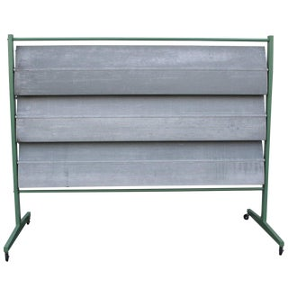 Aluminum Screen in the Manner of Jean Prouve For Sale