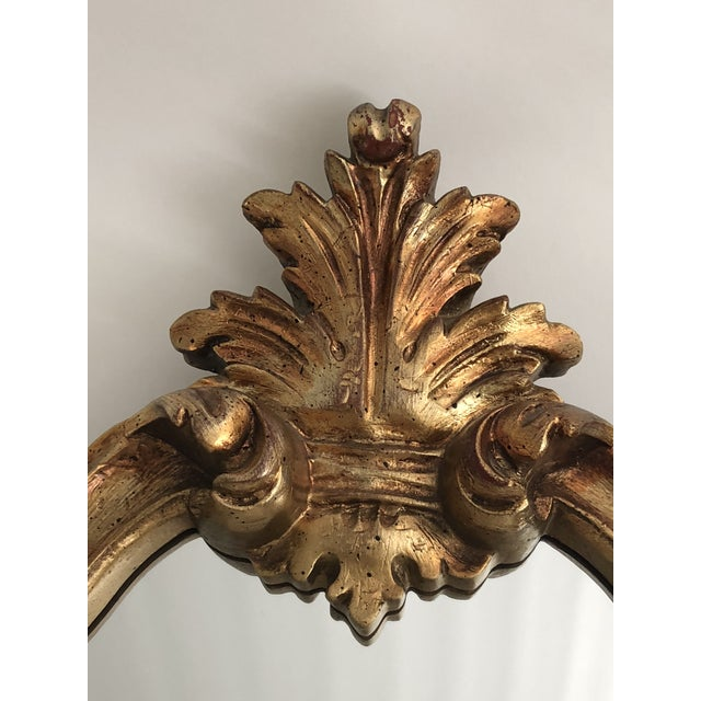 Gold Leaf Carved Mirror For Sale - Image 4 of 7