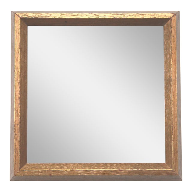 Gold Leaf Square Mirror - Image 1 of 5