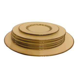 Mid 20th Century Lenox Springdale Dinnerware Set - 7 Pieces For Sale