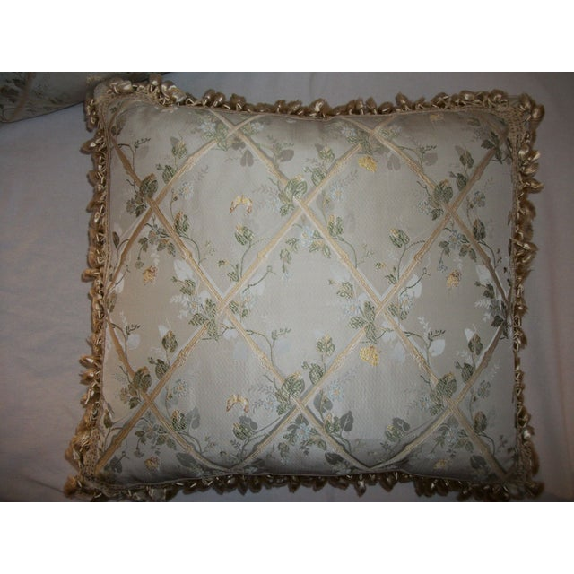 """Scalamandre """"Butterfly & Trellis"""" Pillows - A Pair For Sale - Image 5 of 8"""