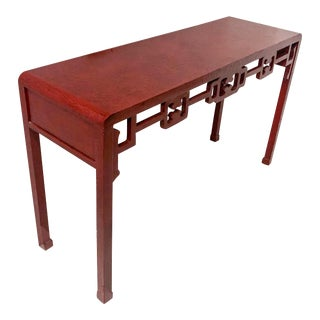 Asian Modern Console Table For Sale