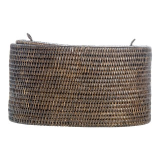 Artifacts Rattan Oval Double Tissue Roll Holder