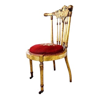19th Century Italianate Gold Gilt Chair For Sale