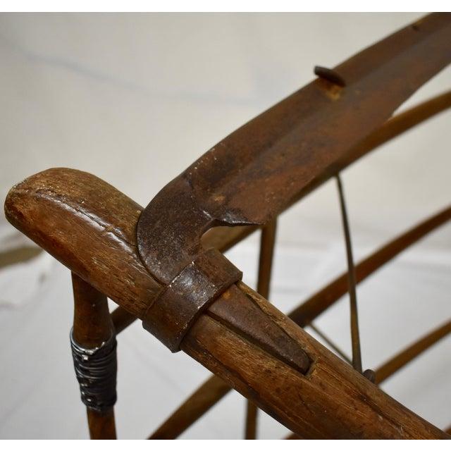 Antique Ash Cradle Scythe For Sale - Image 9 of 10