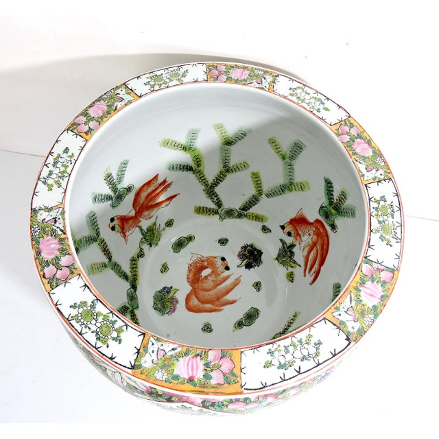 "Mid 20th Century Vintage ""Rose Mandarin"" Figurative Goldfish Bowl / Planter For Sale - Image 5 of 9"