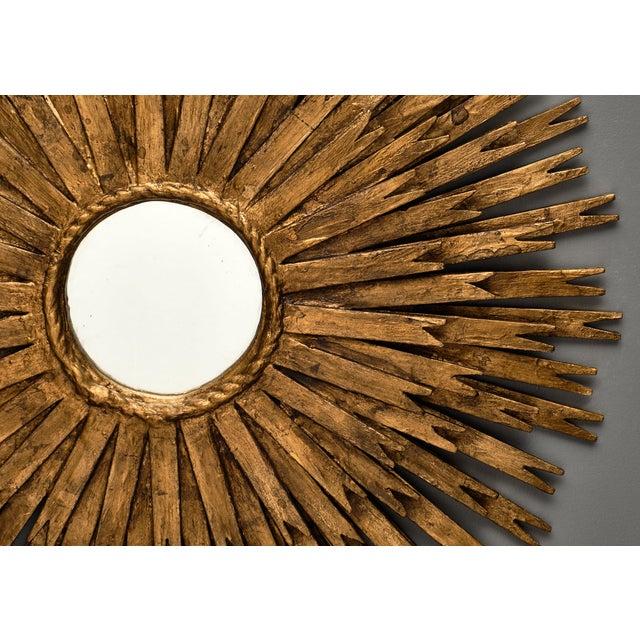 Gold Vintage Spanish Sunburst Mirror For Sale - Image 8 of 10