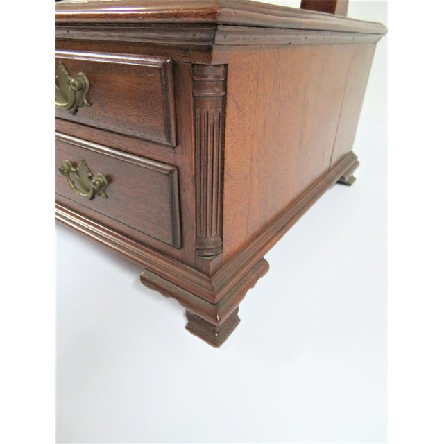 Metal Chippendale Walnut Shaving Mirror For Sale - Image 7 of 8