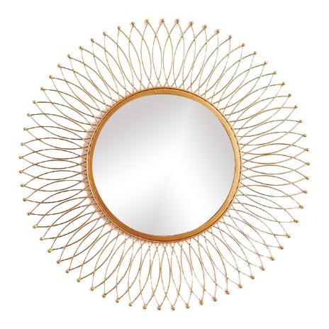 Kenneth Ludwig Duval Gold Leaf Mirror For Sale