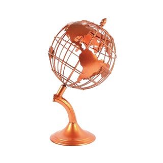 Copper Metal Desktop Globe For Sale