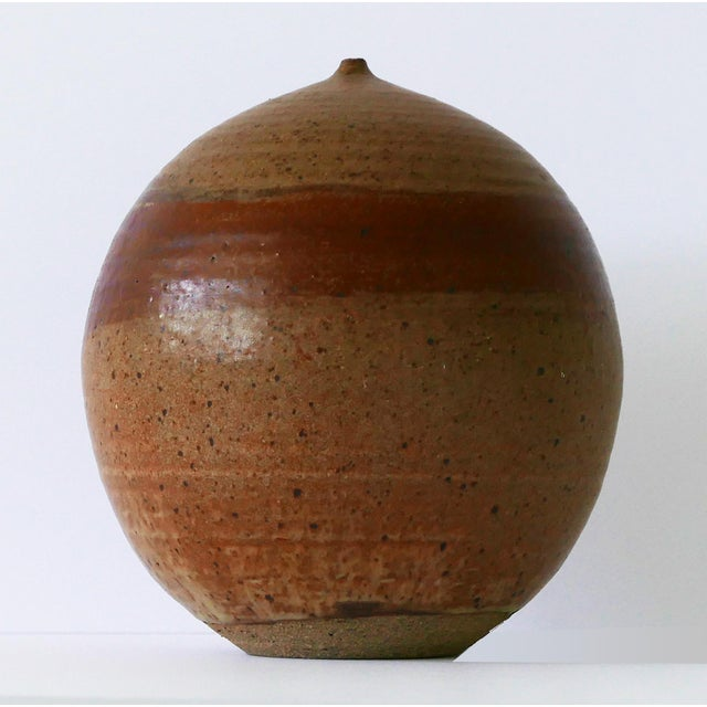 Mid-Century Modern 1973 Mid-Century Studio Pottery Vase For Sale - Image 3 of 7
