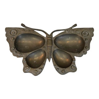 Vintage Brass Butterfly Catchall For Sale