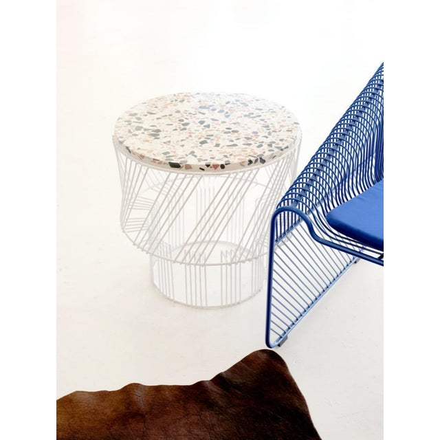 Contemporary Indoor/Outdoor Terrazzo Table in White For Sale In Los Angeles - Image 6 of 9