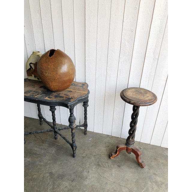 Antique Open Spiral Leg Cocktail Table For Sale - Image 4 of 6