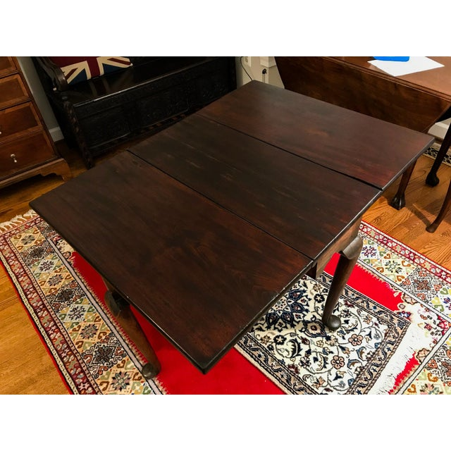 Mid 18th Century Mid 18th Century Antique Mahogany Drop-Leaf Table For Sale - Image 5 of 13