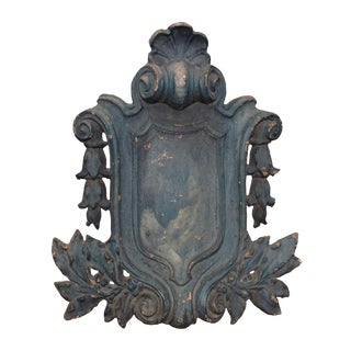 Decorative Cast Iron Building Shield For Sale