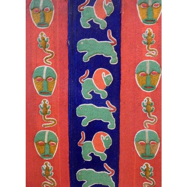 Nigerian Yoruba Beaded Large Panel/Door - Image 4 of 8