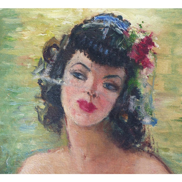 1940's French Oil Painting by Raphael Pricert For Sale - Image 5 of 6