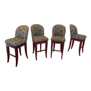 1995 A. Rudin, Style #529 Bar Stools - Set of 4