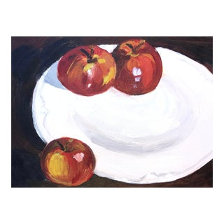 Still Life Oil Painting of Apples For Sale