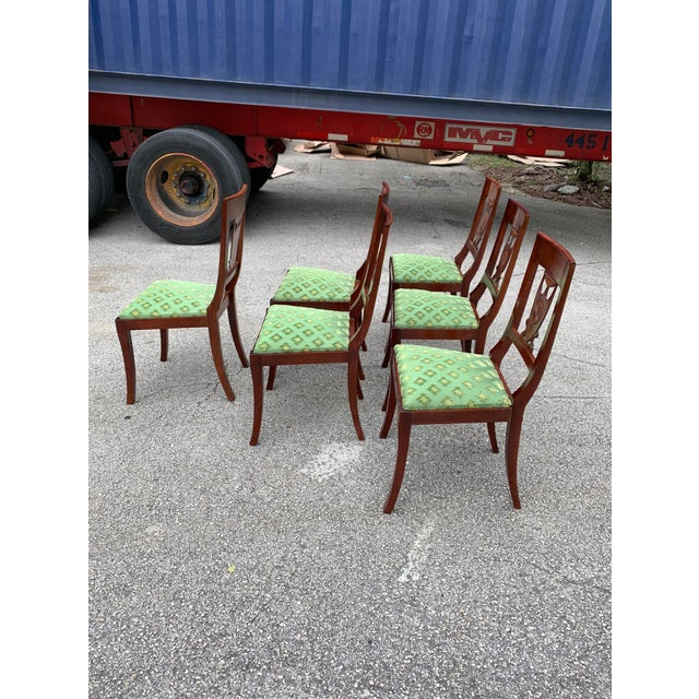 French 1910s French Empire Solid Mahogany Dining Chairs - Set of 6 For Sale - Image 3 of 13