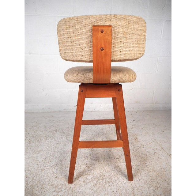 Mid 20th Century Danish Modern Upholstered Swivel Stools by Vampdrup Stolefabrik, Set of 3 For Sale - Image 5 of 13
