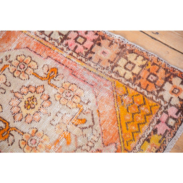 """Vintage Distressed Oushak Square Rug - 2'10"""" X 4'1"""" For Sale In New York - Image 6 of 11"""