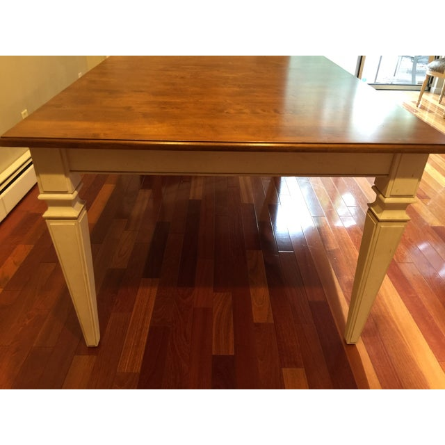 Contemporary Ethan Allen Avery Style Dining Table For Sale - Image 3 of 6