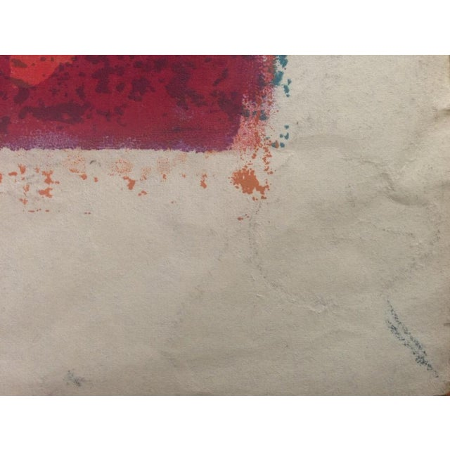 Mid-Century Abstract Silkscreen Estelle Siegelaub For Sale In San Francisco - Image 6 of 7