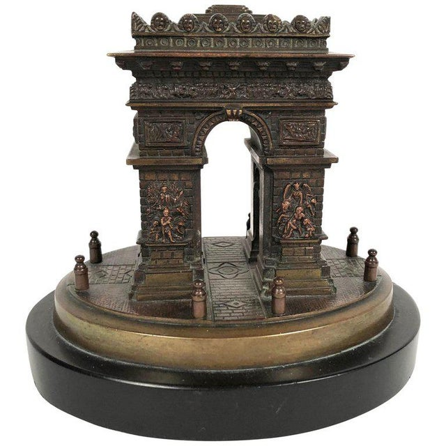 Small Grand Tour Bonze Architectural Model of the Arc De Triomphe in Paris For Sale - Image 11 of 11