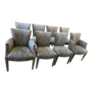Donghia Upholstered Dining Chairs - Set of 8 For Sale