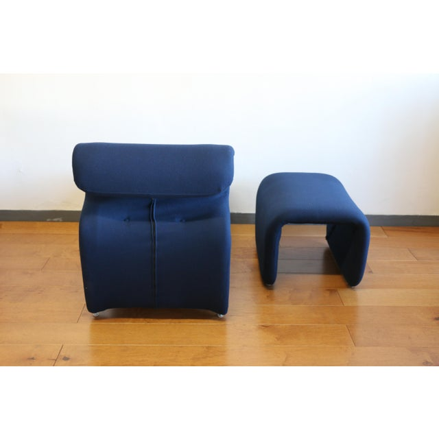 Blue Ribbon Lounge Chair and Ottoman by Oliver Mourgue For Sale - Image 8 of 12