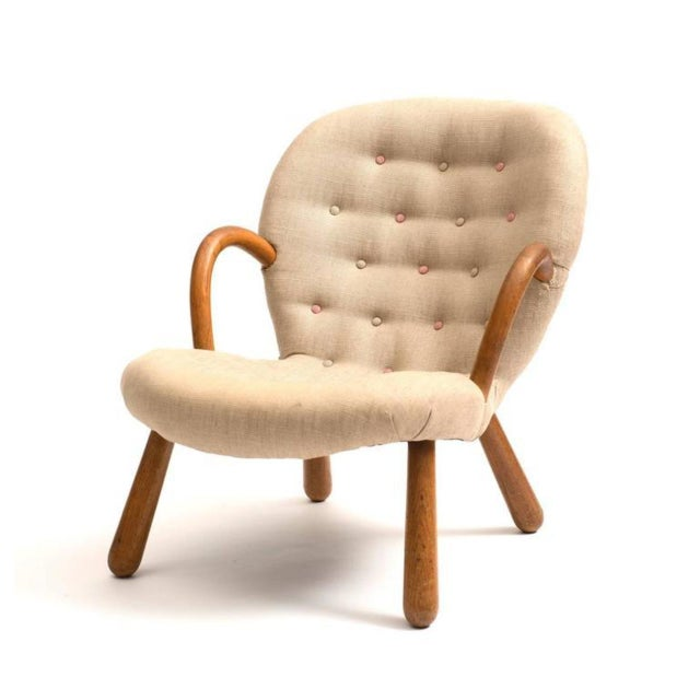 Mid-Century Modern Clam Chair by Philip Arctander, 1940s For Sale - Image 3 of 6