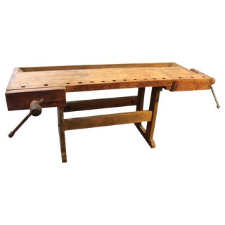 Antique Maple Work Bench or Desk For Sale