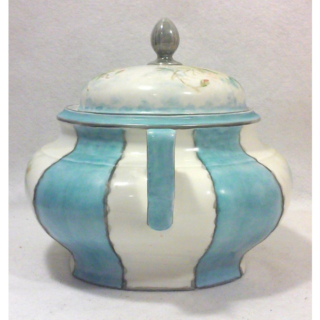 Art Deco Hand Painted Bavarian Porcelain Soup Tureen - Image 4 of 10