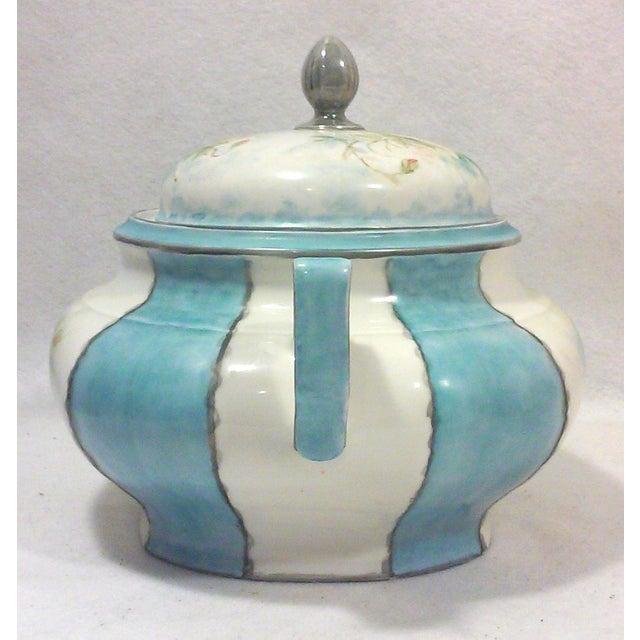 Art Deco Hand Painted Bavarian Porcelain Soup Tureen For Sale - Image 4 of 10