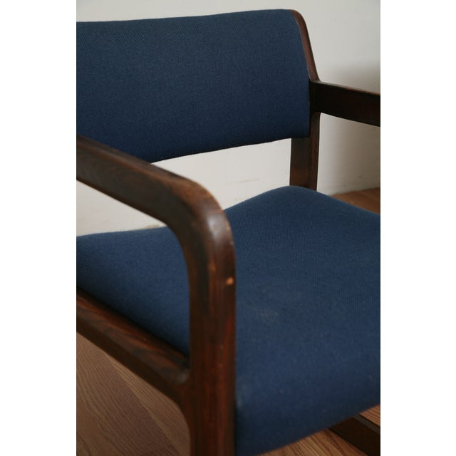Vintage 1970s Mid-Century Modern Wooden Chair For Sale - Image 10 of 11