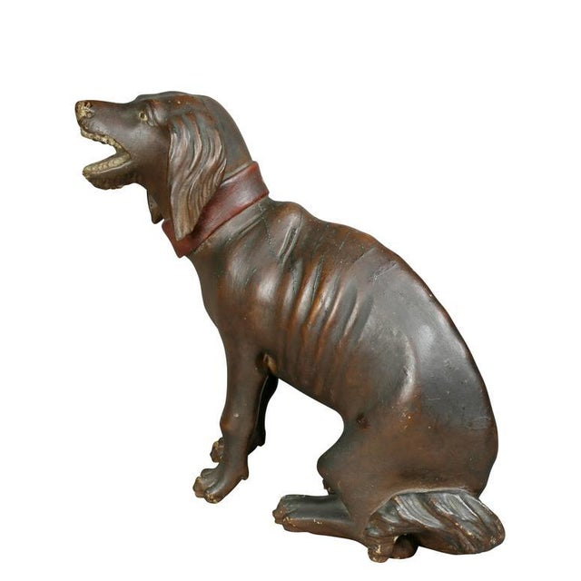 Asian Unusual Painted and Carved Wood Dog For Sale - Image 3 of 10