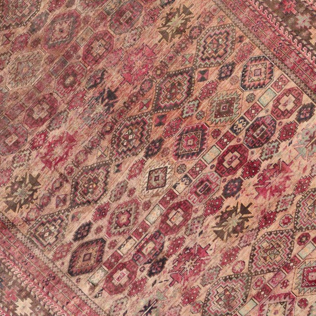 Pink Vintage Persian Baluch Rug with Modern Tribal Style For Sale - Image 4 of 9