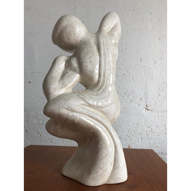 1980s Vintage Post Modern Art Deco Inspired Figurines (A Pair) For Sale - Image 5 of 11