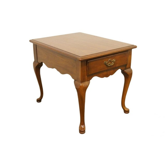 Thomasville Furniture Collectors Cherry Collection End Table For Sale - Image 13 of 13