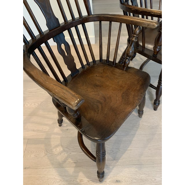 Late 19th Century Windsor Chairs - A Pair For Sale - Image 4 of 9