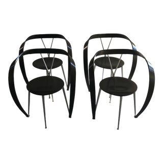 1990s Vintage Andrea Branzi for Cassina Chairs- Set of 4 For Sale