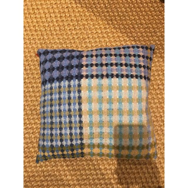Missoni Blue & Yellow Wool Pillow - Image 6 of 6