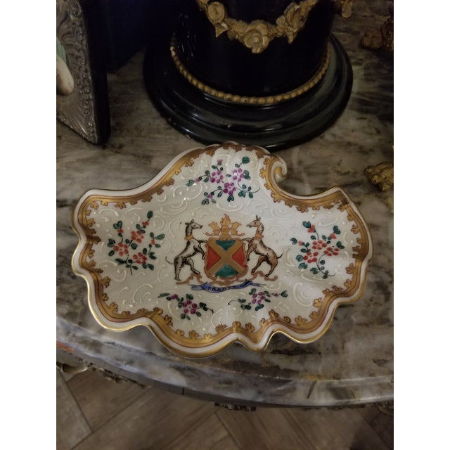 French Vintage Samson Armorial Crest Dish For Sale - Image 3 of 8