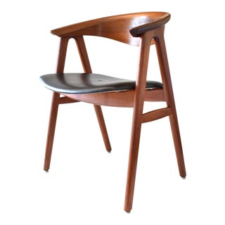 1960s Vintage Erik Kirkegaard for Høng Stolefabrik Danish Mid-Century Modern Teak Compass Chair For Sale